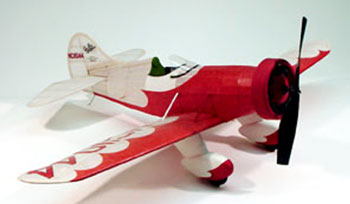 "Gee Bee Model E #302 Dumas 30"" Wingspan Balsa Wood Model Airplane Kit"