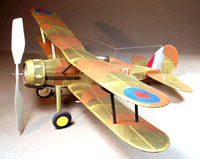 Gloster Gladiator #FF98 Easy Built Models (Laser Cut) Balsa Wood Model Airplane Kit Rubber Powered