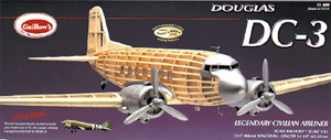 Guillows DC 3 Wood Model Airplane Kit #804