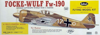 Guillows FW190 Wood Model Airplane Kit #406