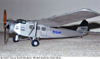 Hollywood Hamilton #CA02 (LASER CUT) Easy Built Balsa Wood Model Airplane Kit Rubber Powered