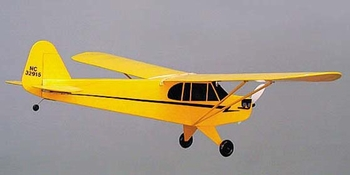 J-3 CUB  PIPER #302 Herr Electric R/C Balsa Wood Model Airplane Kit