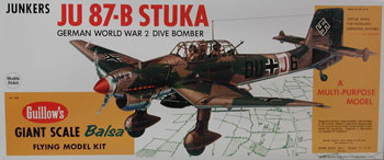 Junkers Ju-87B Stuka, Gillow's #1002 Balsa Wood Model Airplane Kit