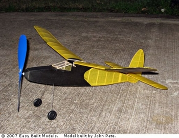 Korda Victory #FF97 Easy Built Balsa Wood Model Airplane Kit Rubber Powered
