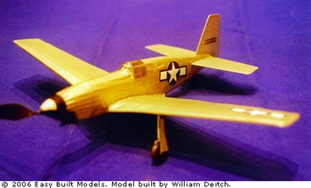 P-51 Mustang, Easy Built Models #LC102 Balsa Wood Model Airplane Kit