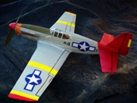 P-51 Mustang #FF66 Easy Built Models Balsa Wood Model Airplane Kit Rubber Powered