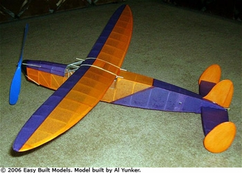Phantom #LC02 Easy Built Models Balsa Wood Model Airplane Kit Rubber Powered