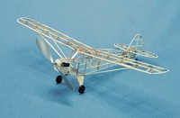 Piper J-3 Cub #201 Herr Balsa Wood Model Airplane Kit Rubber Powered