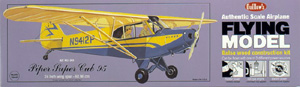 """Piper Super Cup 95 24"""" Guillows #303 Balsa Wood Model Airplane Kit Rubber pwd"""