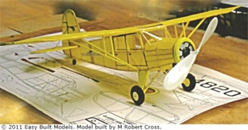Rearwin Trainer #CA01 Easy Built Balsa Wood Model Airplane Kit Rubber Powered