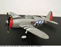Republic P-47 Thunderbolt, Easy Built Models #EB04 Balsa Wood Model Airplane Kit