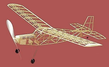 Scout #101 Herr Balsa Wood Model Airplane Kit Rubber Powered