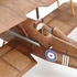 SE5A #547  Vintage Co Balsa Wood Model Airplane Kit Rubber Powered