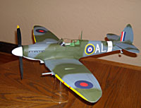 Spitfire Mk 1X #LC01 Easy Built Models Balsa Wood Model Airplane Kit Rubber Powered