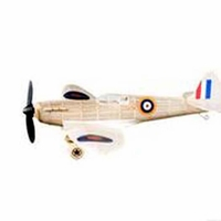 Spitfire White #479  Vintage Co Balsa Wood Model Airplane Kit Rubber Powered