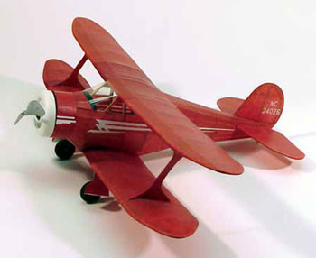 "Staggerwing #214 Dumas 17 ½"" Wingspan Balsa Wood Model Airplane Kit"