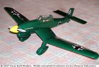 Stuka Dive Bomber Ju87 #FF75 Easy Built Balsa Wood Model Airplane Kit Rubber Powered