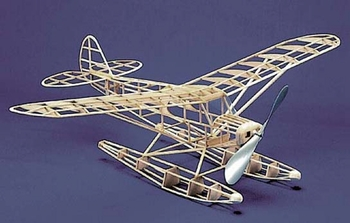 Super Cub W/Floats Piper#109 Herr Balsa Wood Model Airplane Kit Rubber Power
