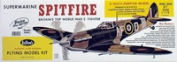 """Supermarine Spitfire 27.6"""" Guillows #403 Wood Model Airplane Kit"""