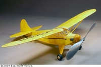 Taylor Cub, Easy Built Models #FF15LC Balsa Wood Model Airplane Kit Rubber Powered
