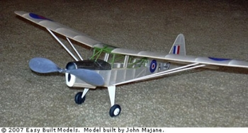 Taylorcraft Auster #FF96 Easy Built Balsa Wood Model Airplane Kit Rubber Powered