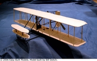 Wright Flyer 1, Easy Built Models #D10LC Balsa Wood Model Airplane Kit
