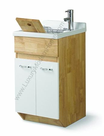 "ALEXANDER - 18"" SMALL Oak Laundry Utility Sink"
