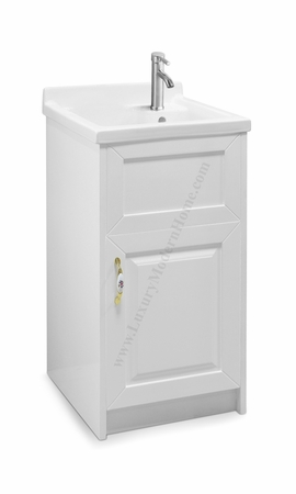 "ALEXANDER - 18"" SMALL White Laundry Utility Sink"