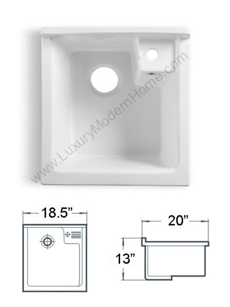Alexander 18 Small White Laundry Utility Sink