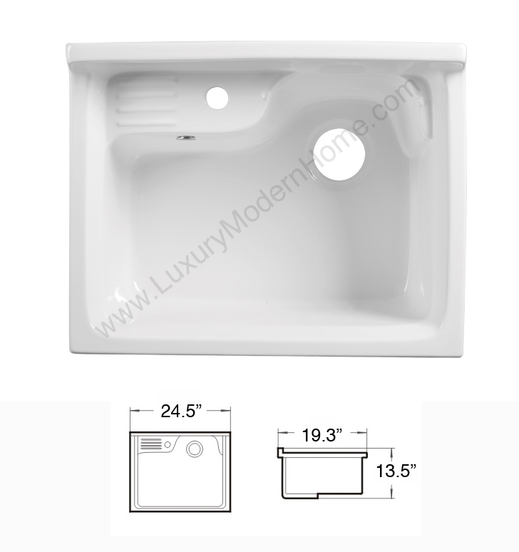 Alexander 24 Quot White Laundry Utility Sink
