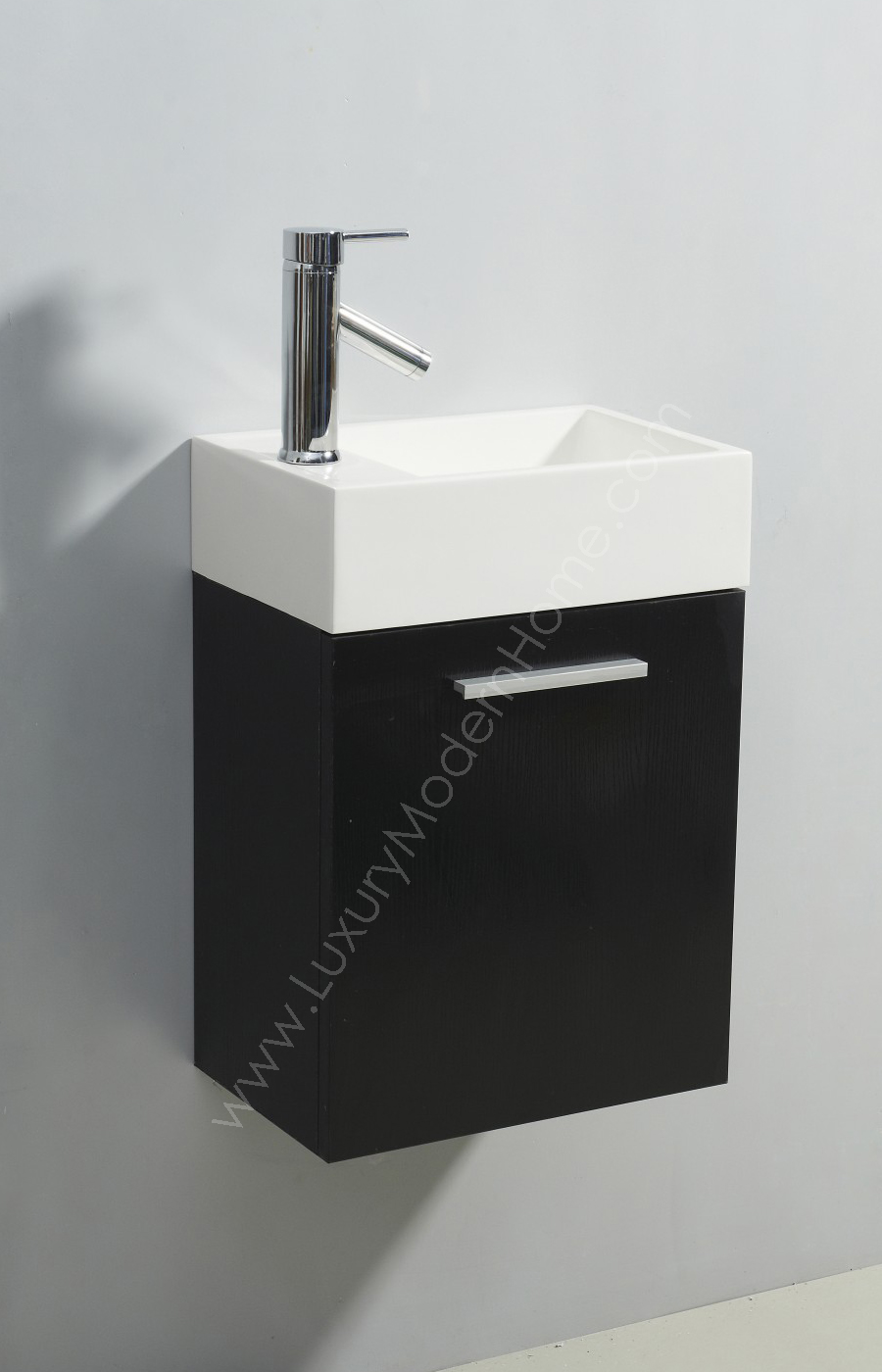 Alexius 16 Quot X 10 Quot Narrow Black Vanity Sink