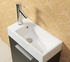 "ALEXIUS - 20"" x 10"" Narrow Black Vanity Sink"