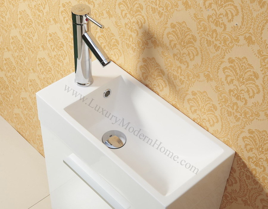 small modern bathroom sinks alexius 20 quot x 10 quot narrow white vanity sink 20552