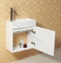 "ALEXIUS - 20"" x 10"" Narrow White Vanity Sink"