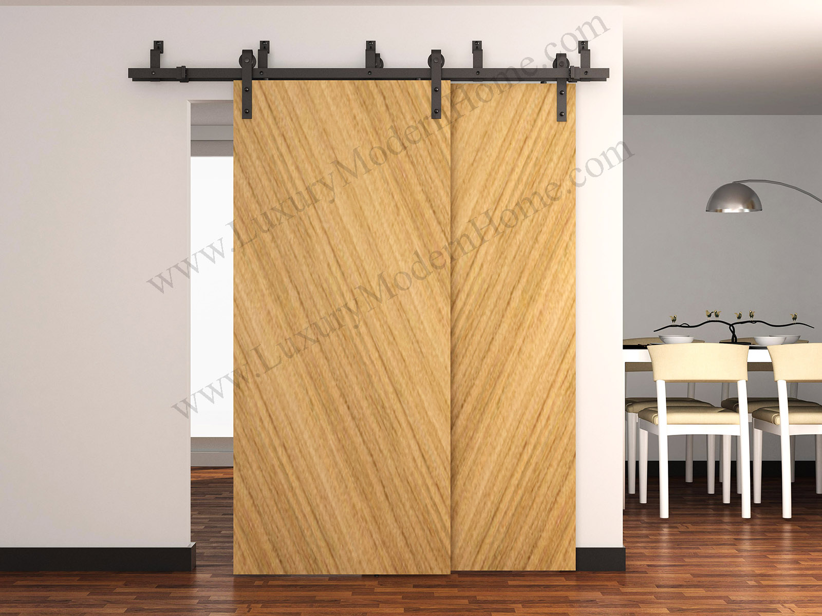 & AUSTIN - BYPASS Sliding Barn Door Hardware