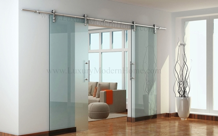 "BERLIN - DOUBLE Sliding Glass Door Hardware (100"" opening max)"