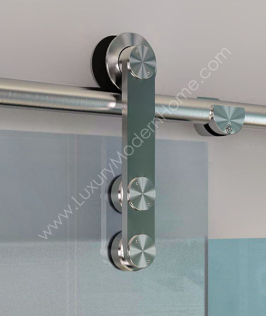 Berlin sliding glass door hardware only longer 98 rail for Sliding door hardware