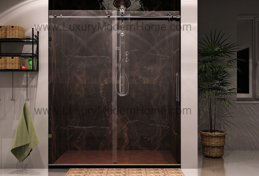Cologne 2 custom frameless sliding glass shower door for Custom sliding doors