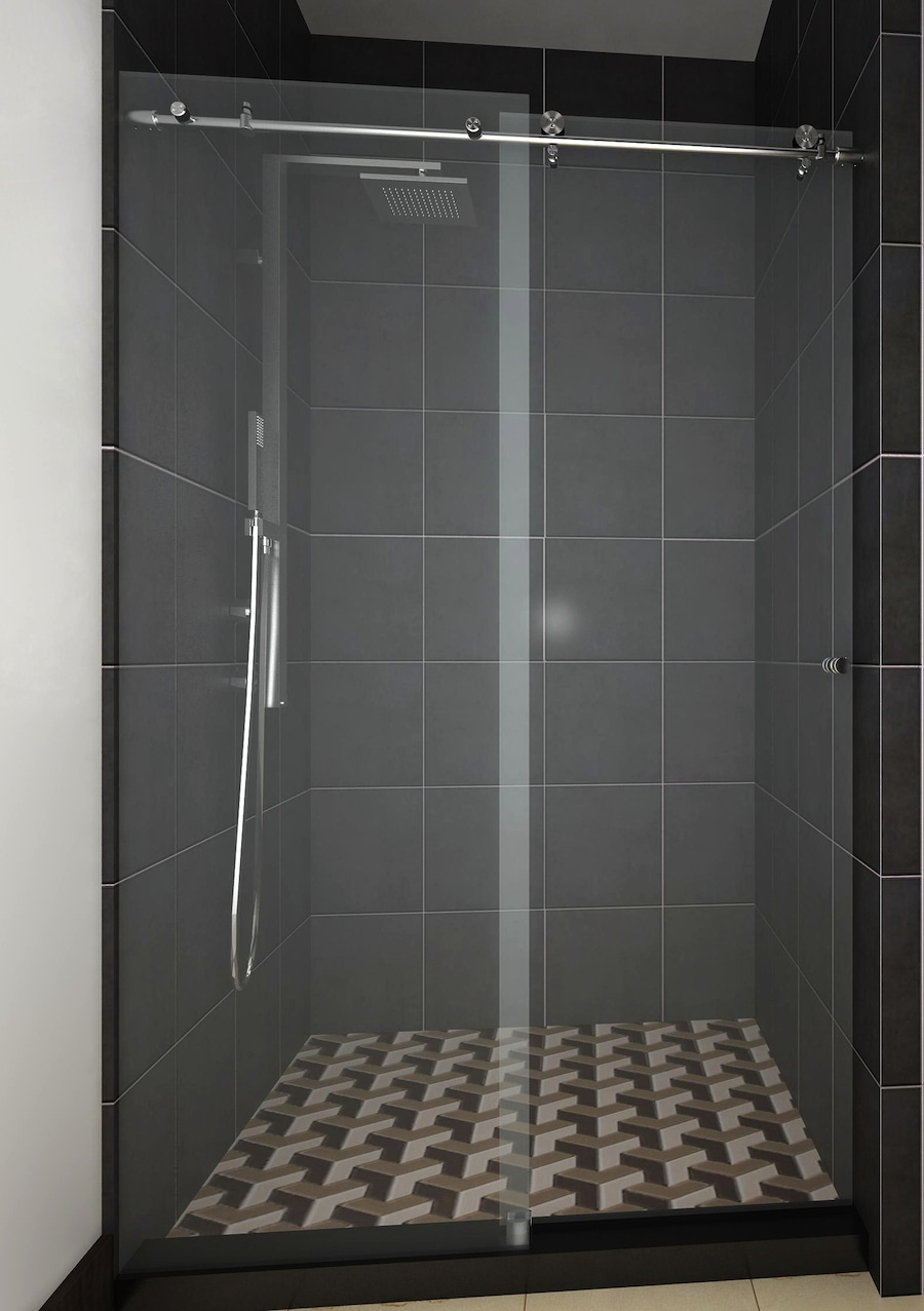 Sliding frameless glass shower door Sliding glass shower doors