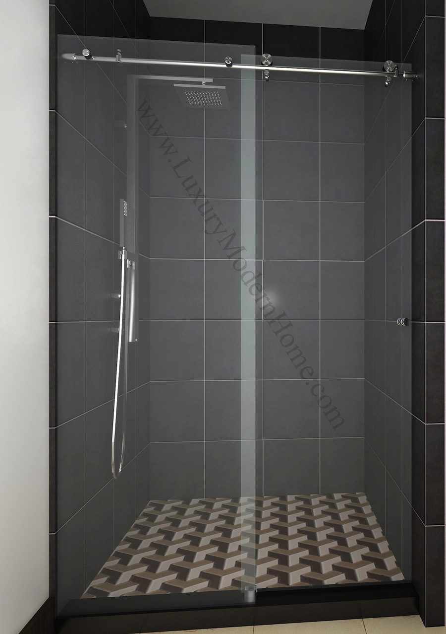Cologne 2 custom frameless sliding glass shower door Sliding glass shower doors