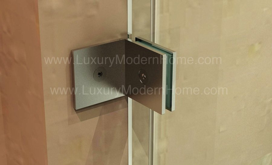 Cologne 2 Custom Frameless Sliding Glass Shower Door Hardware Only
