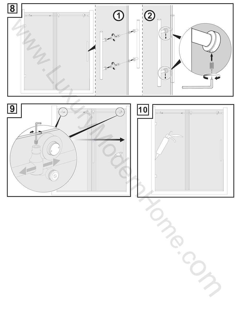 cologne 2 custom frameless sliding glass shower door hardware only - Glass Shower Door Hardware