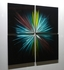 "Color Spectrum - 32"" x 32"" Metal 3D Wall Art - 4 Piece Art"