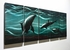 "Dolphins 2 - 24"" x 60"" Metal 3D Wall Art - 5 Piece Art"