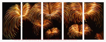 "Fireworks - 24"" x 60"" Metal Wall Art"