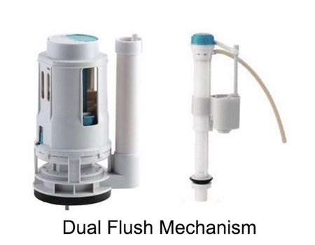GALBA TOILET - EXTRA FLUSH MECHANISM