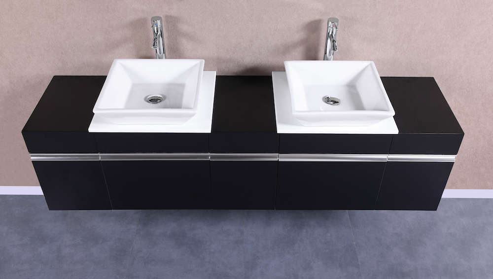 MARCUS 12 Small Black Vanity Sink