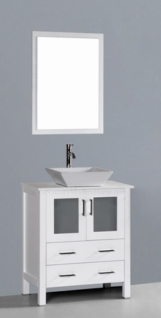 "MARCUS 2 - 30"" Freestanding White Vessel Sink"
