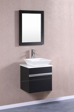 "MARCUS - 20"" Small Black Vanity Sink"