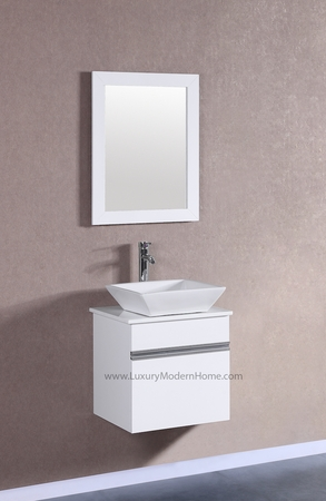 "MARCUS - 20"" x 18"" x 23"" Small White Vanity Sink"